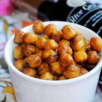Balsamic Curry Roasted Chickpeas