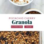 Pistachio Cherry Granola