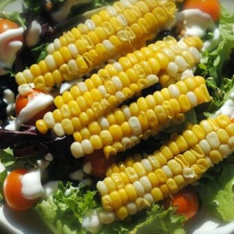 colorful summer side salad