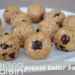 Lower Calorie Oatmeal Rasin PB Balls