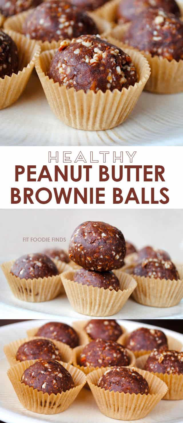 Healthy Peanut Butter Brownie Balls