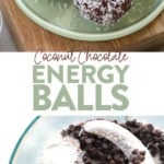 A photo collage of energy balls