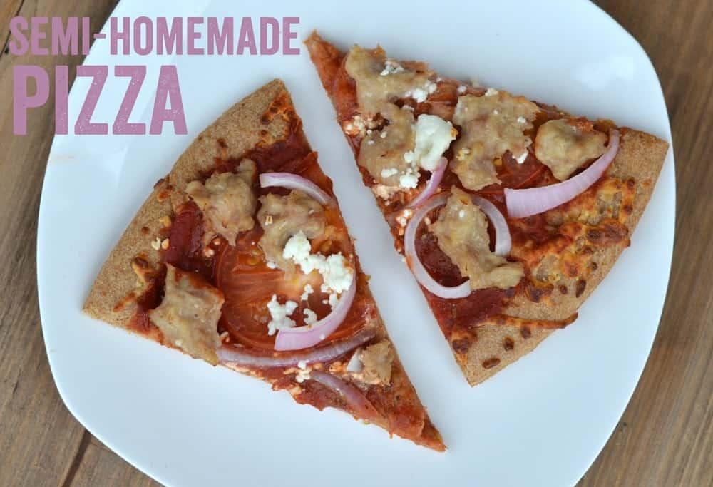 Chicken Tomato Feta Whole Wheat Pizza