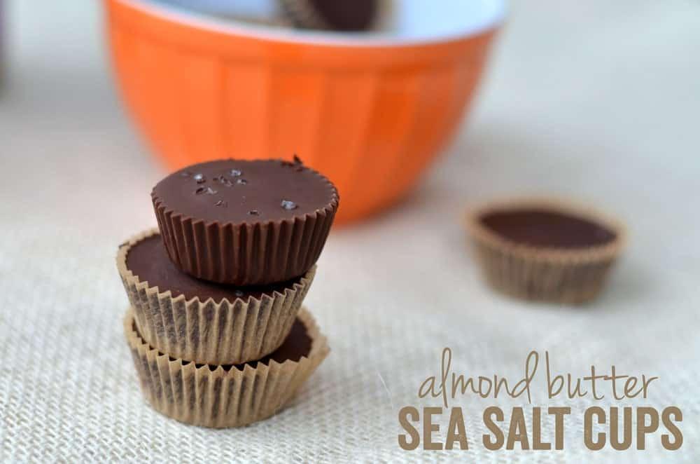 Almond Butter Sea Salt Cups
