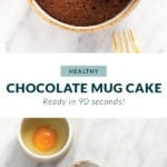 chocolate mug cake that is ready in 7 minutes!