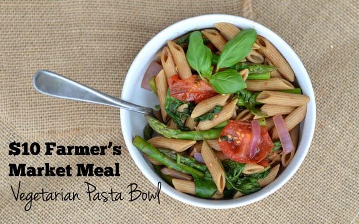 Vegetarian Whole Wheat Pasta Bowl