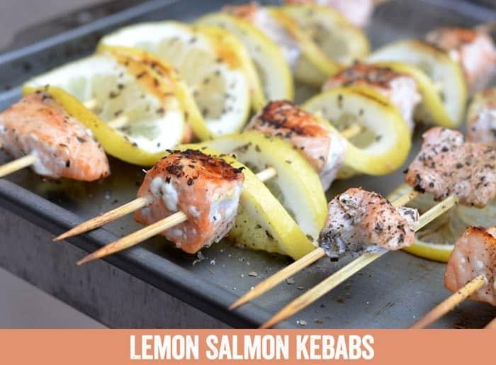 Lemon Salmon Kebabs