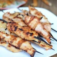 BBQ Rubbed Chicken Skewers
