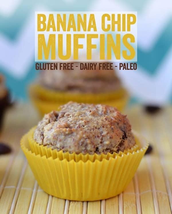 Paleo Banana Chip Muffins