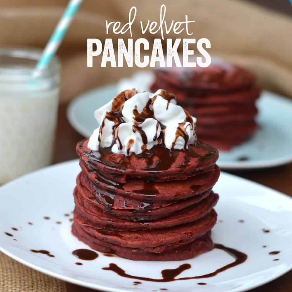 Red Velvet Pancakes - Recipe Contest - Fit Foodie Finds