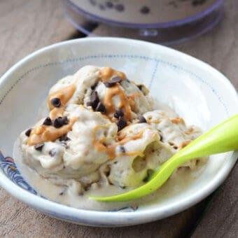 Peanut Butter Chocolate Chip Banana Soft Serve