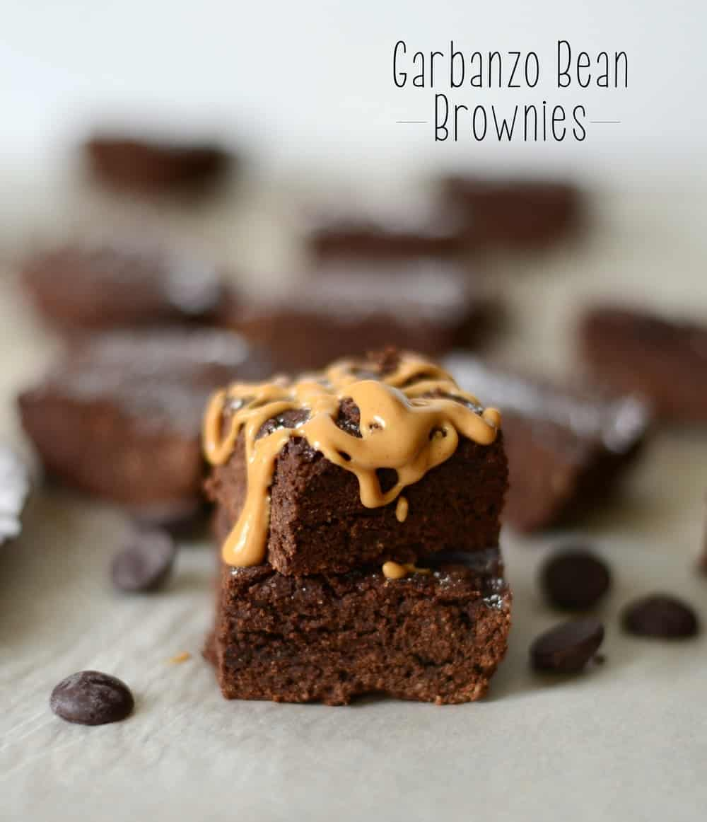 Garbanzo Bean Brownies! #glutenfree #100calories #fitfluential
