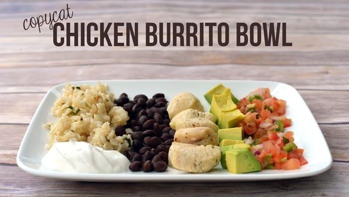 chicken burrito bowl chicken burrito bowl from tortilla burrito bowl ...