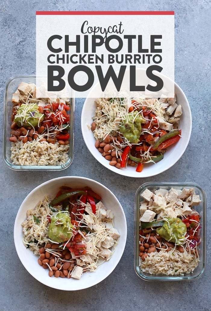 Chicken Burrito Bowls Top Down