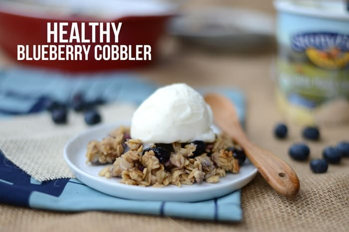 Healthy Blueberry Cobbler #glutenfree #fitfluential