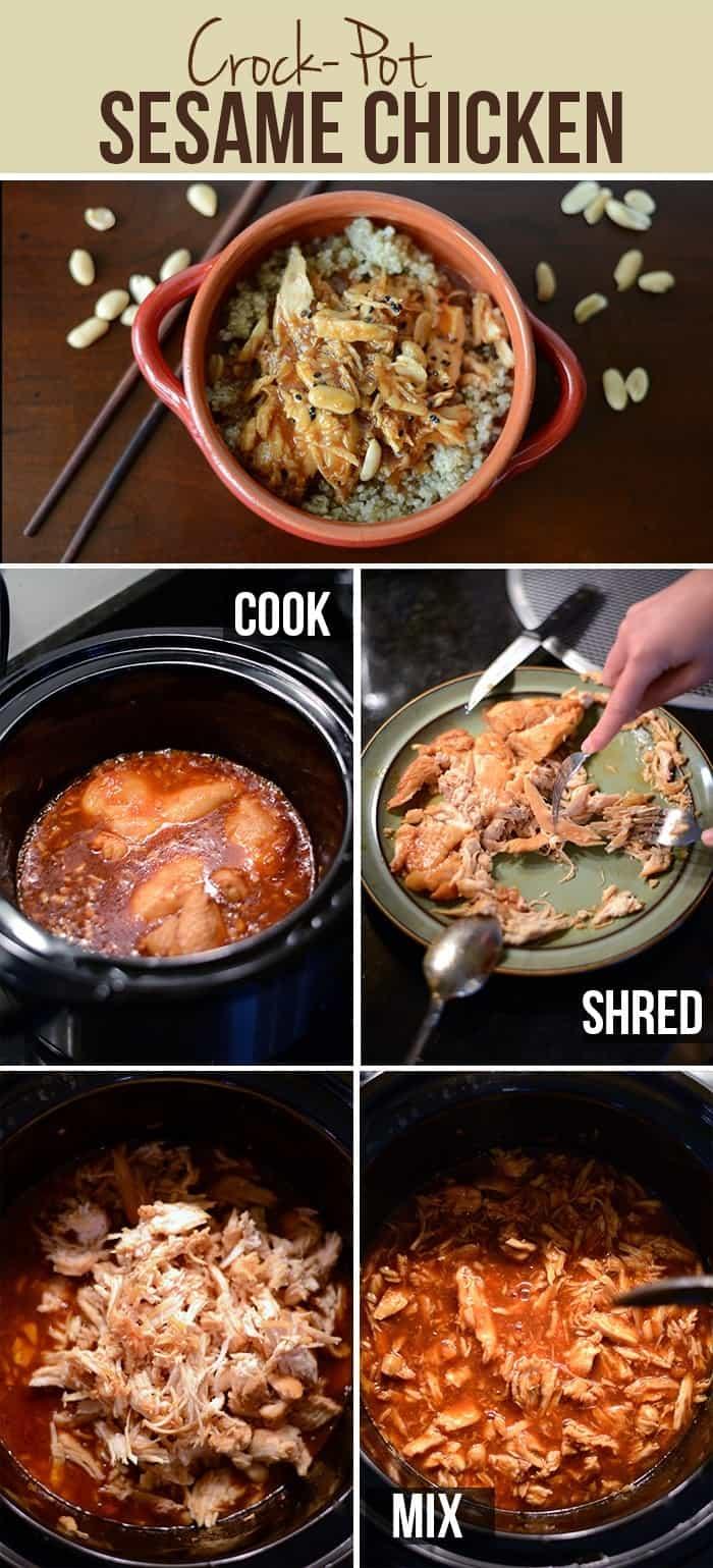 Crock-Pot Sesame Chicken #glutenfree #fitfluential