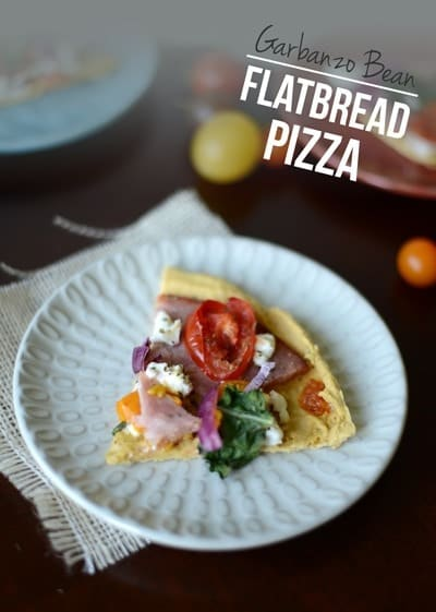Garbanzo Bean Flatbread Pizza