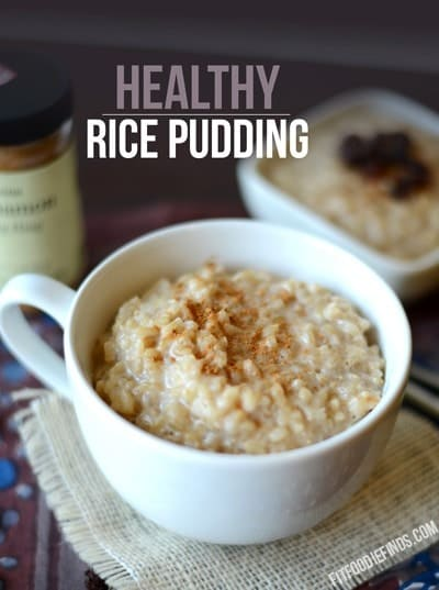 Healthy Rice Pudding - Fit Foodie Finds