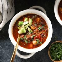 black bean quinoa chili