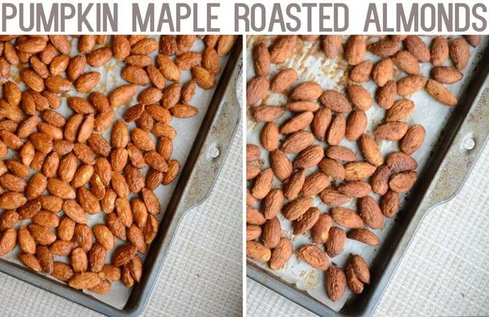Pumpkin Maple Roasted Almonds