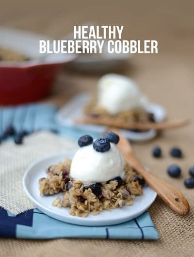 cobbHealthy Blueberry Cobbler #glutenfree #fitfluential