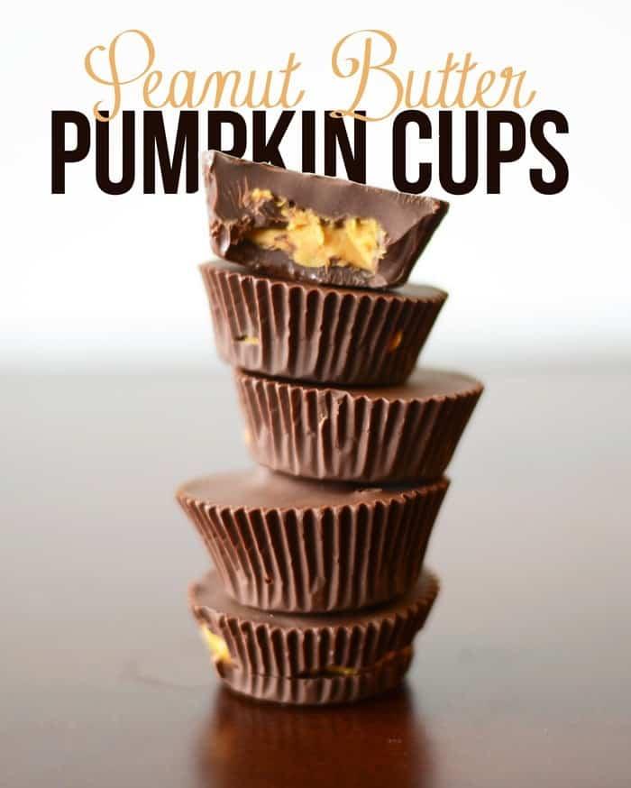 Peanut Butter Pumpkin Cups #healthy #vegan #glutenfree - Only 84 calories per cup!