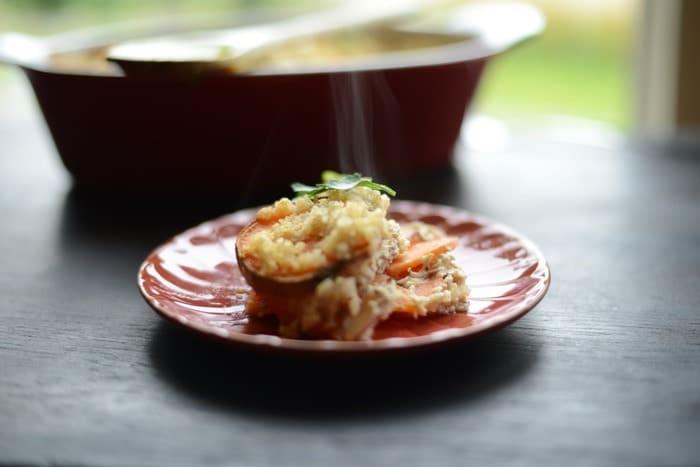 Sweet Potato Quinoa Gratin #vegetarian #glutenfree #fitfluential