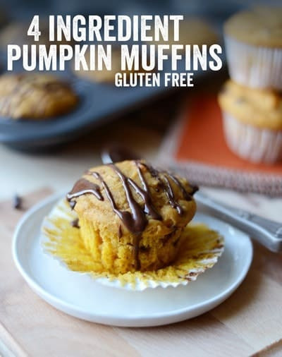 Add just 3 ingredients to your favorite gluten-free muffin recipe to make these delicious gluten-free pumpkin muffins that the whole family will love!
