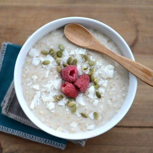 Slow Cooker Steel Cut Oats - Fit Foodie Finds