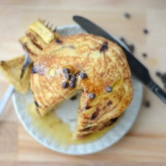 Cornbread Chocolate Chip Pancakes [gluten free]