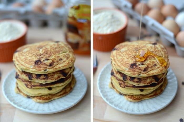 Cornbread Chocolate Chip Pancakes #glutenfree #fitfluential