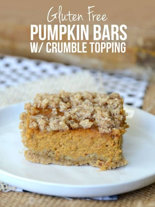 Gluten Free Pumpkin Bars w/ Crumble Topping | Fit Foodie Finds