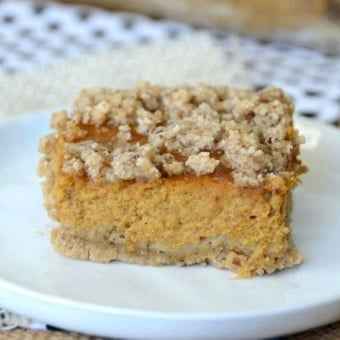 Gluten Free Pumpkin Bars w/ Crumble Topping
