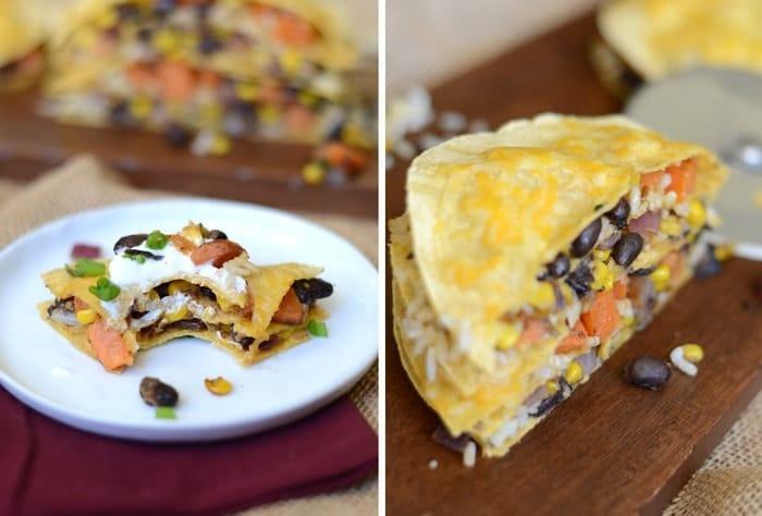 Healthy Double Decker Sweet Potato Tostada - Fit Foodie Finds