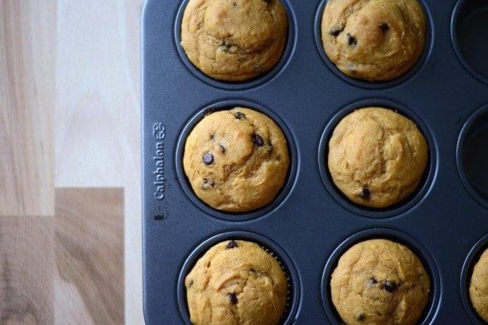Healthy Thanksgiving Recipe Ideas- 4 Ingredient Pumpkin Muffins