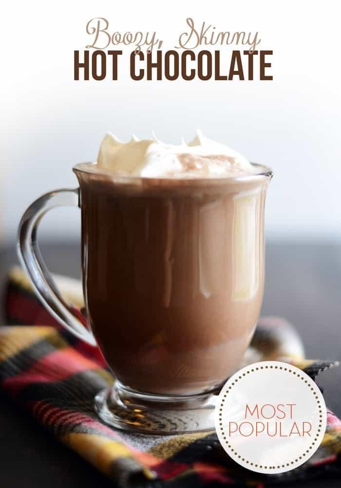 Boozy, Skinny Hot Chocolate!