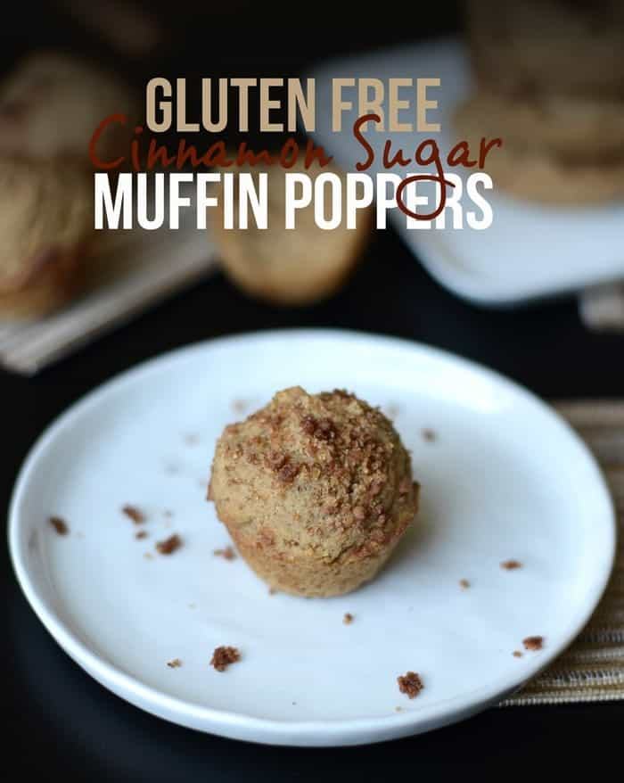Gluten Free Cinnamon Sugar Muffin Poppers #fitfluential #recipe #glutenfree