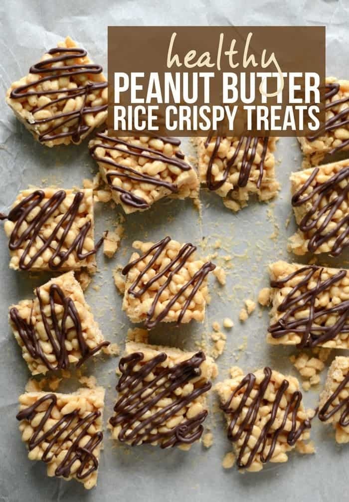 Healthy Peanut Butter Rice Crispy Treats!
