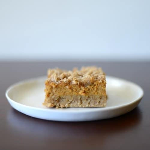 Healthy Thanksgiving Recipe Ideas- Gluten Free Pumpkin Bars w/ Crumble Topping