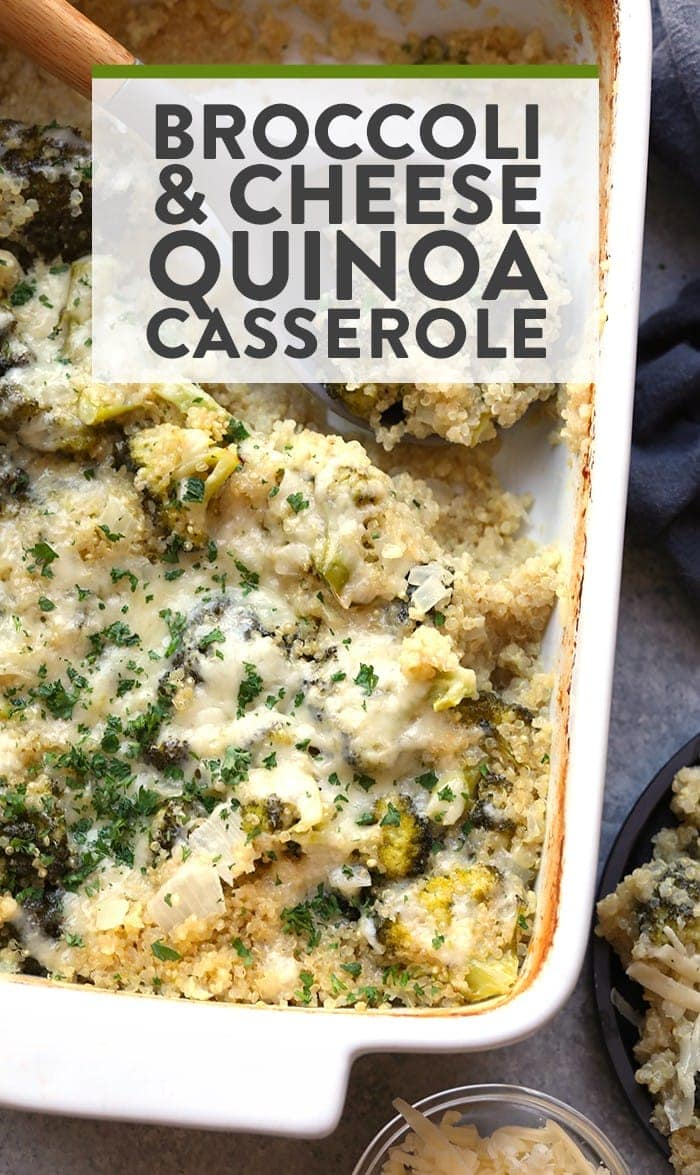 Add some nutrition to the classic broccoli and cheese casserole with this healthy twist! Make this Broccoli and Cheese Quinoa Casserole with just a few ingredients for a wholesome, vegetarian meal.