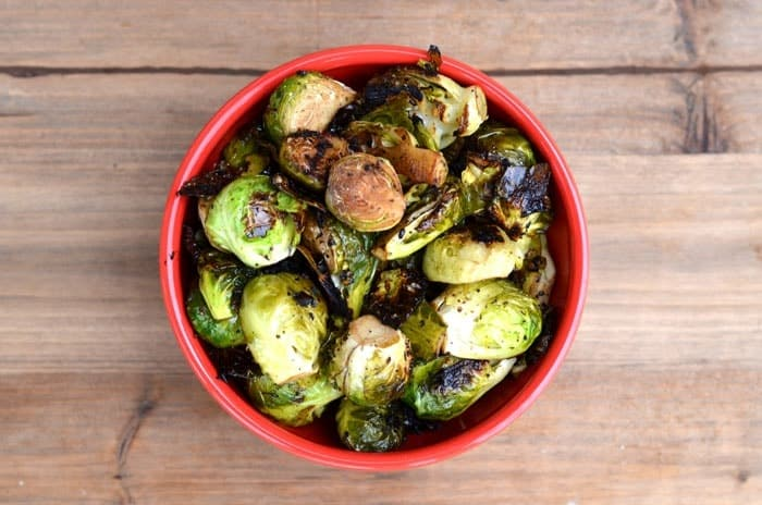 Healthy Thanksgiving Recipe Ideas- Grilled Brussels Sprouts #glutenfree