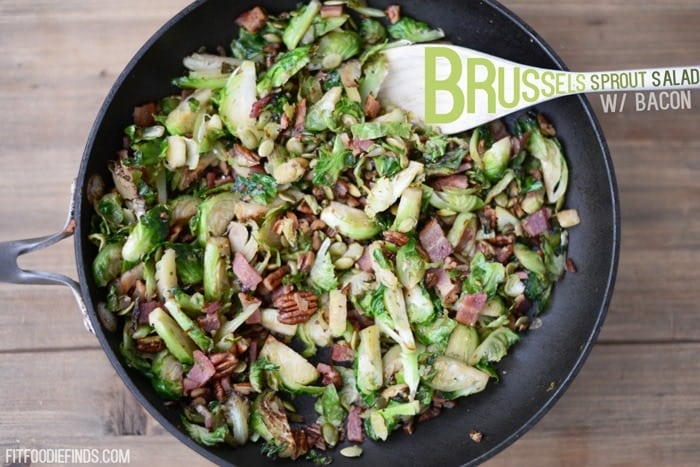 Healthy Thanksgiving Recipe Ideas- Brussels Sprout Salad w/ Bacon