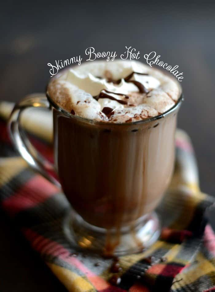 Boozy Skinny Hot Chocolate - Fit Foodie Finds