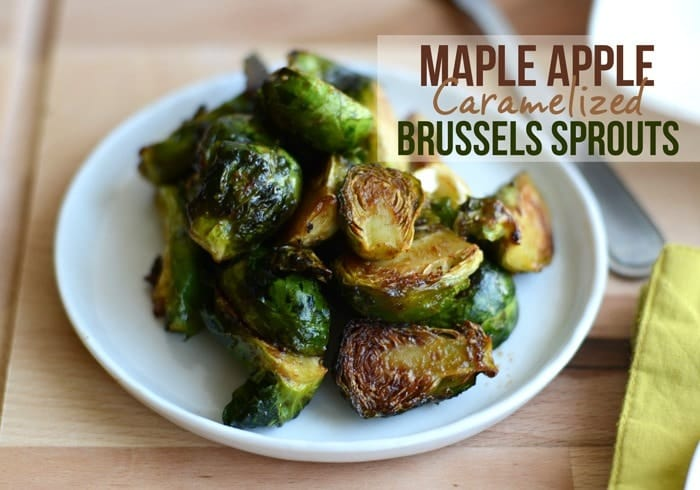 Maple Apple Caramelized Brussels Sprouts