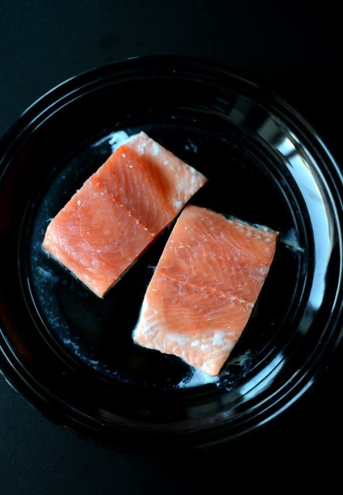 Maple Apple Caramelized Salmon #sizzlefish #fitfluential