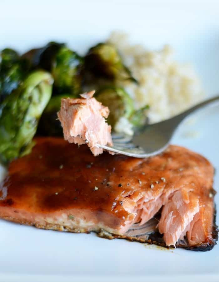 Maple Apple Caramelized Salmon #sizzlefish #fitfluential