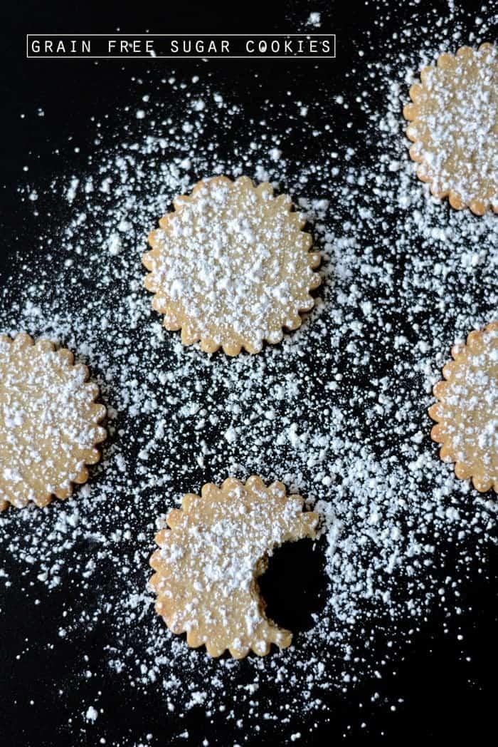 Grain free Sugar Cookie Cut Outs #glutenfree #vegan #sugarfree