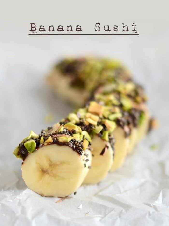 Healthy After School Snacks | Banana Sushi | Beanstalk Mums