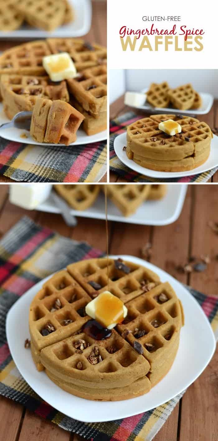 It's that time of year to make all things gingerbread! Make these delicious Gluten Free Gingerbread Spice Waffles for the perfect fall breakfast!