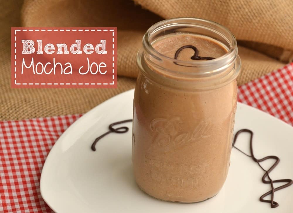 Wake-up your tastebuds in the morning with this copycat mocha frappuccino with a healthy twist! It has 18g whey protein and NO added sugar.